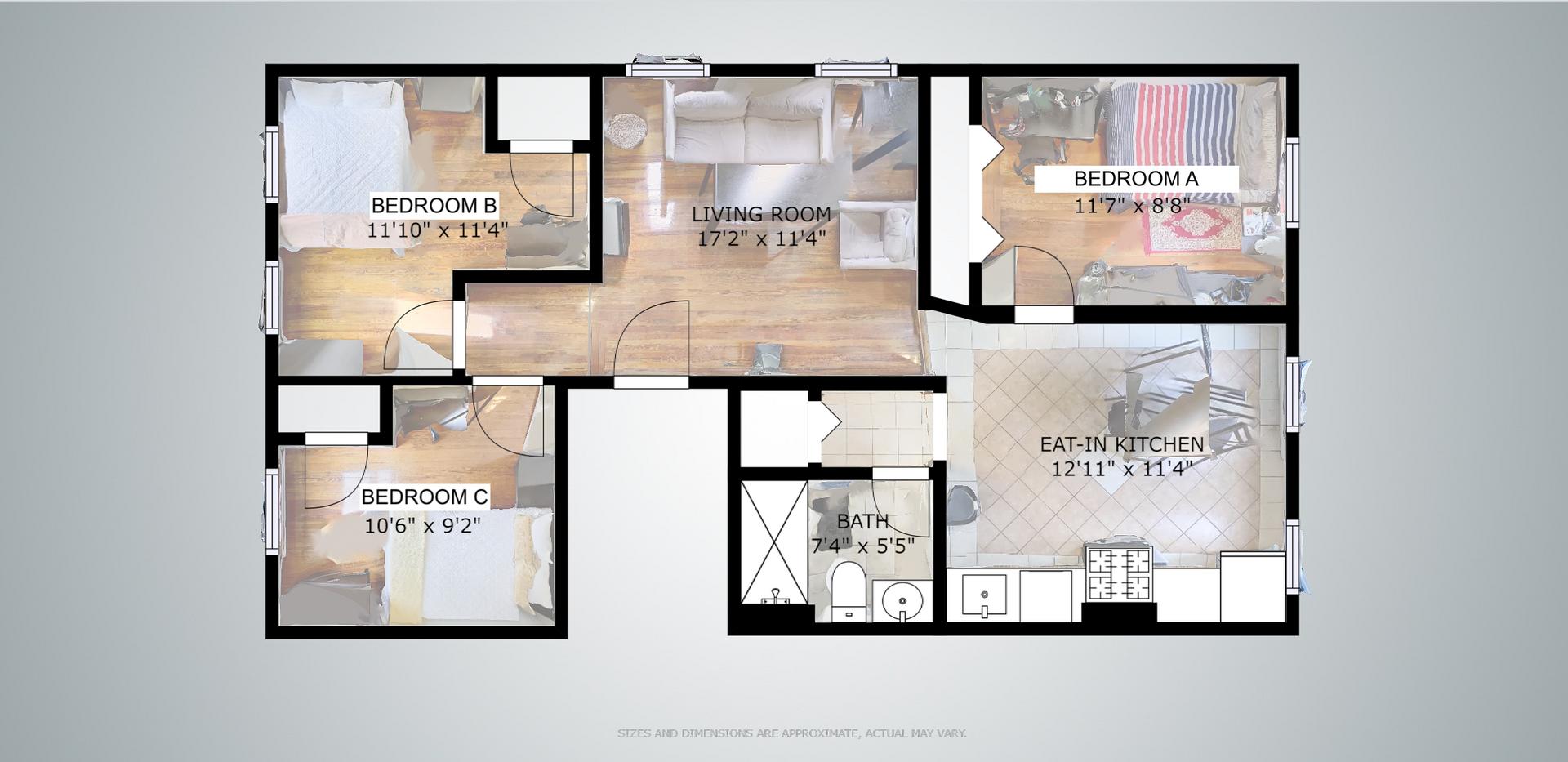 Floorplan of 32 Shelby Unit 2