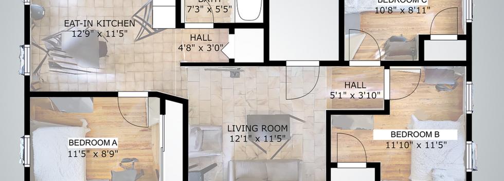 Floorplan of 32 Shelby Street Unit 3