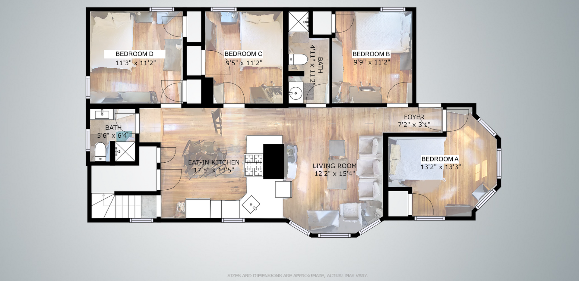 1st, 2nd, 3rd Floor Floorplan