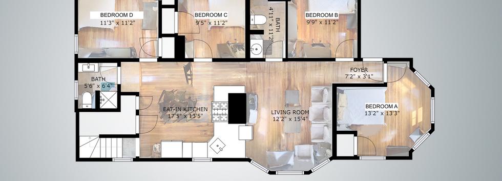 1st, 2nd, 3rd Floor Floorplan