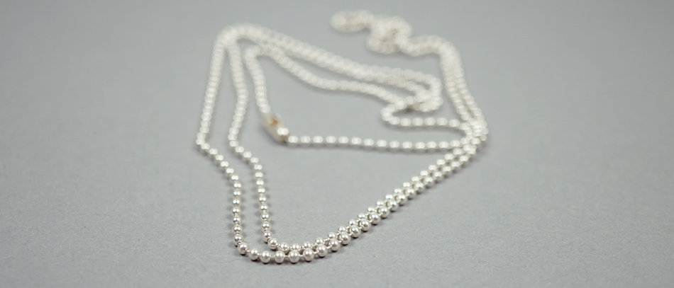 Sterling Silber Kette | Ball chain sterling silver – 100cm