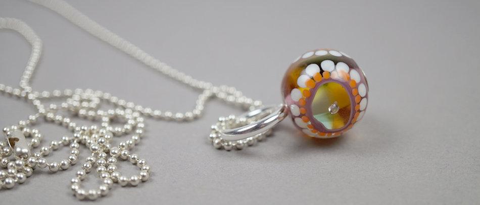 Glas-Anhänger | Glass bead pendant