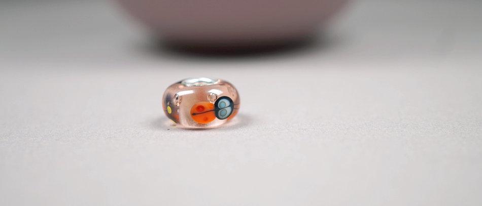 Modulperle Marienkäfer | Glass charm Ladybug