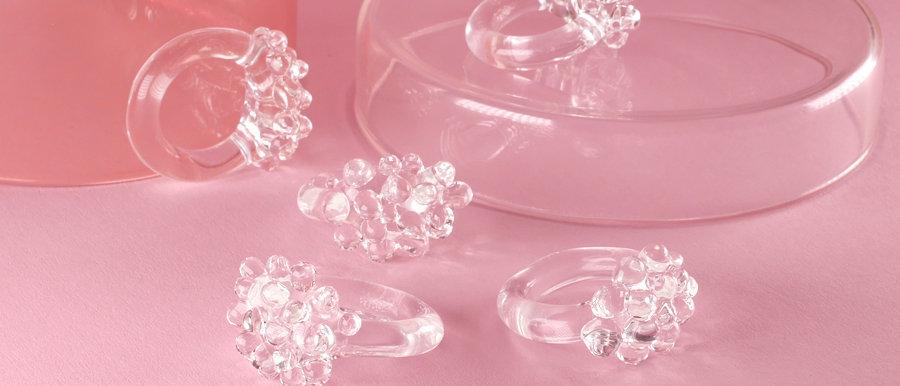 Glasring aus Klarglas   Clear glass ring