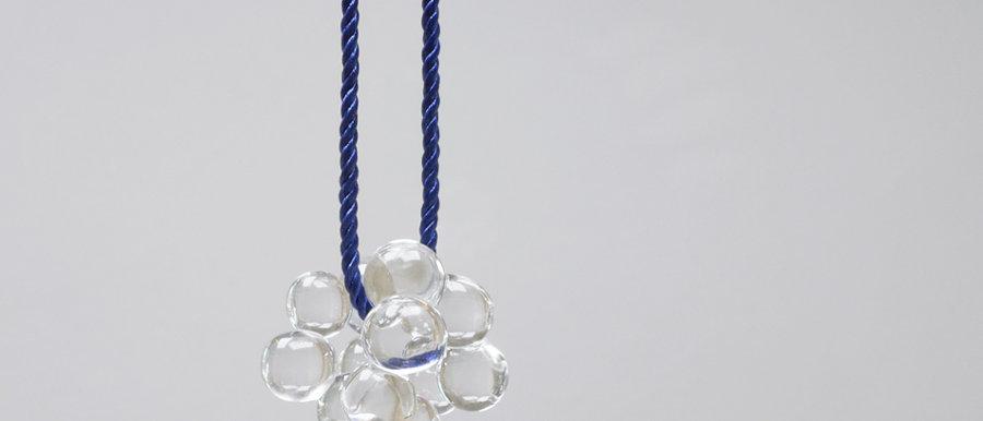 Kette mit Anhänger | Clear glass pendant