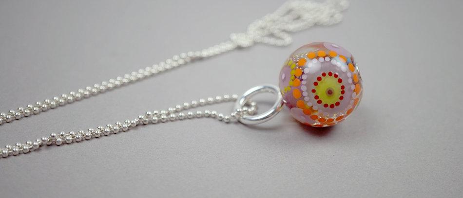 Großer Anhänger | Glass bead pendant