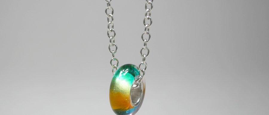 Perle mit Farbverlauf   Big hole bead