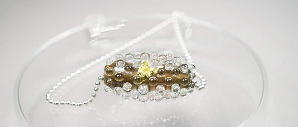 Perle mit Gold | Sparkling focal bead