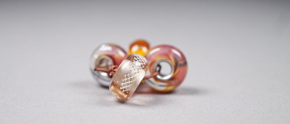 Modulperlen Set   Set of 4 glass charms