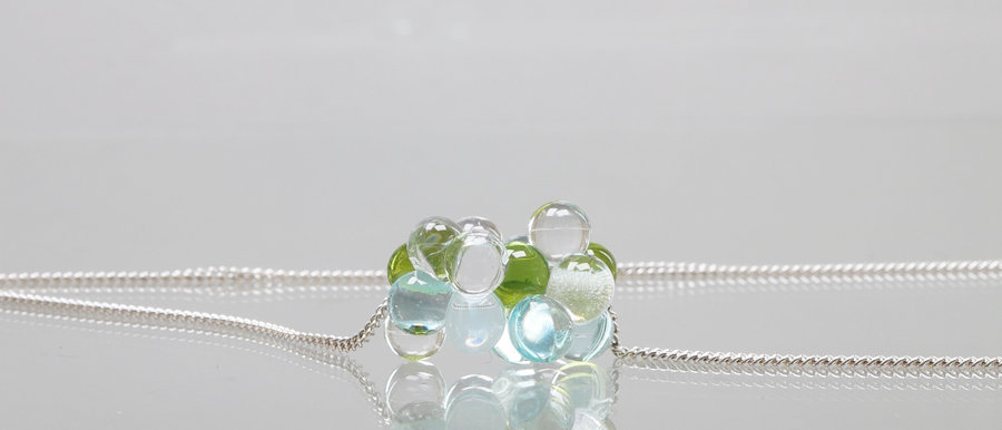 Silberkette mit Glas-Wolke | Happy Cloud pendant