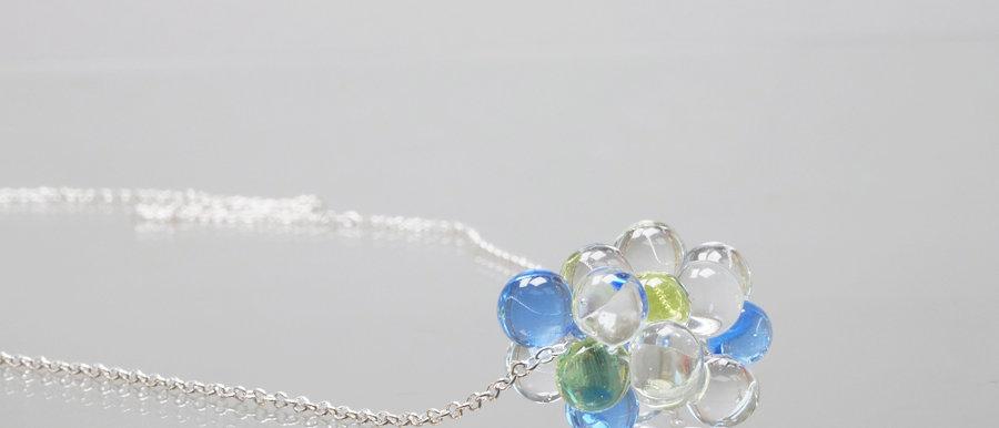 Silberkette mit Glas-Wolke   Happy Cloud pendant
