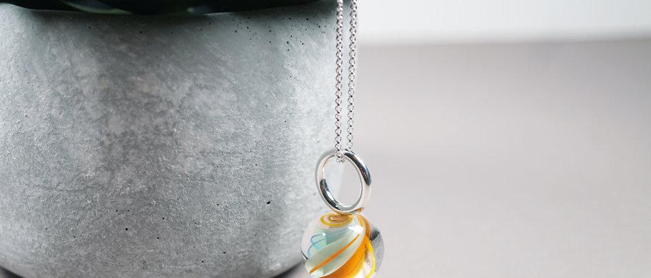 Murmel-Anhänger   Glass bead pendant