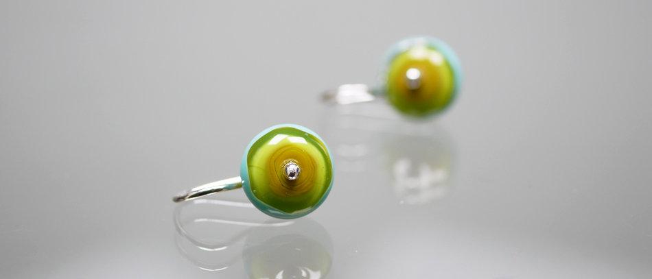 Ohrringe aus Muranoglas   OOAK Earrings