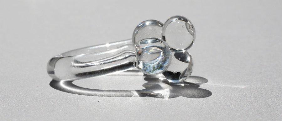 Glasring aus Klarglas | Clear glass ring