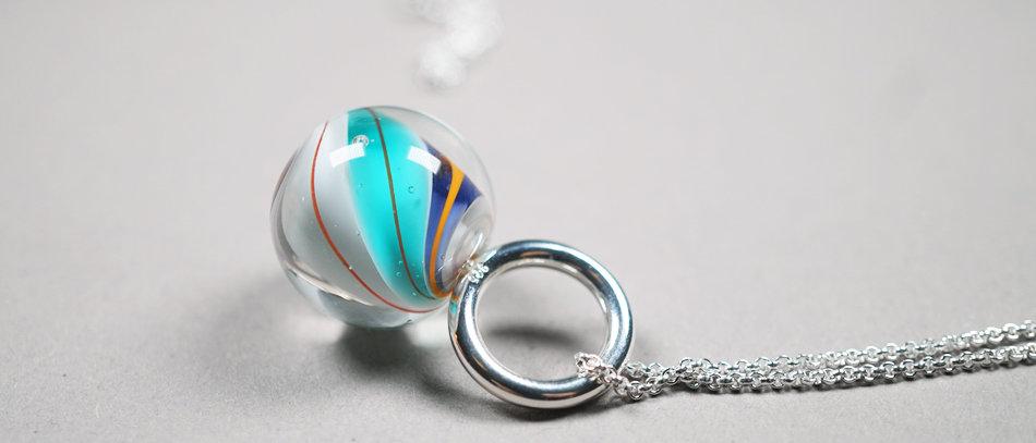 Murmel-Anhänger | Glass bead pendant