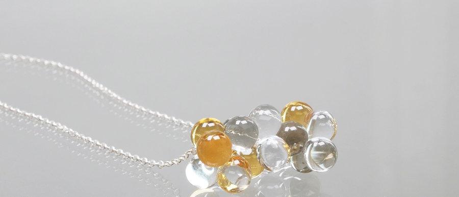 Silberkette mit Glas-Wolke | Happy Cloud pendant