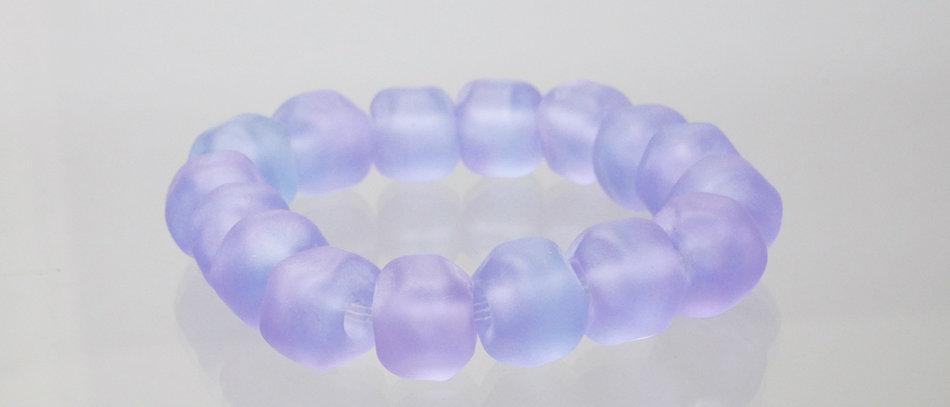 Mattiertes Armband | Sea glass bracelet