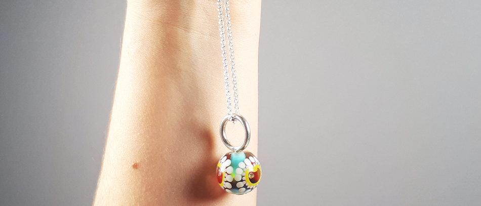 Anhänger mit Unikat Glasperle | Glass bead pendant