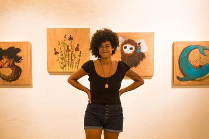 Ianah e seus quadros