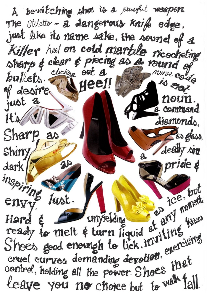 Heels Collage & Poem