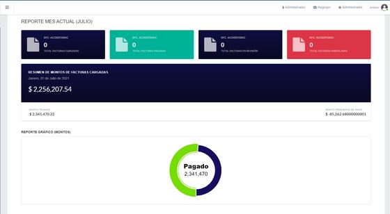 Portal de proveedores-Reporte