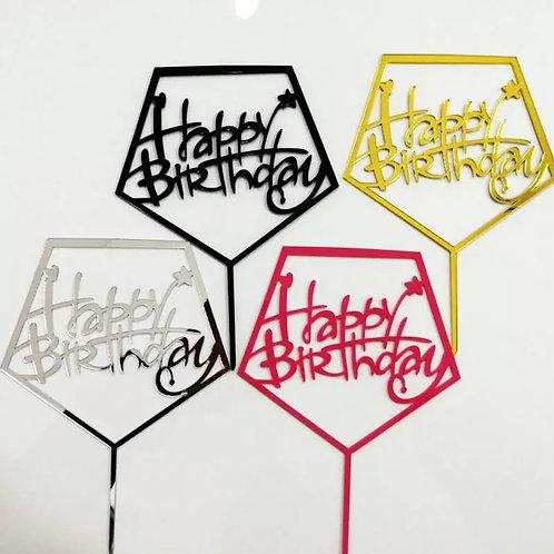 Pentagon Birthday topper