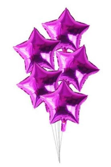 Star Mylar Balloon (fuschia)