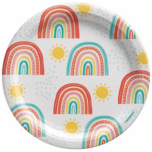 "Rainbows & Sunshine 7"" Plates"