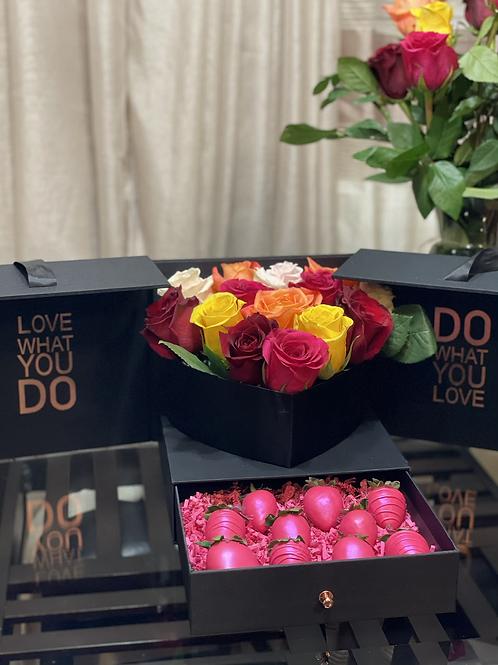 Square-  Tri Fold Flower Box