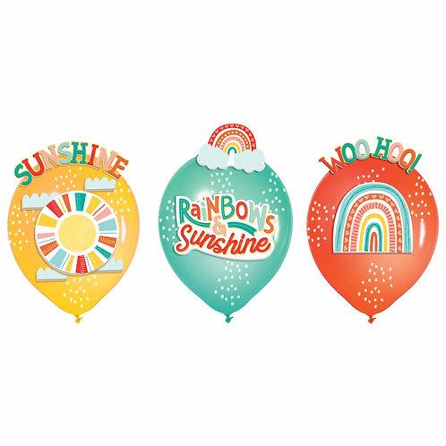 Rainbows & Sunshine Latex Balloons