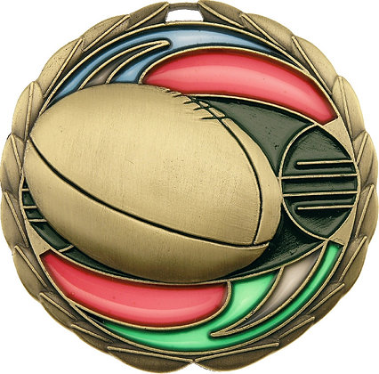 MS912G Aussie Rules Medal 70mm_