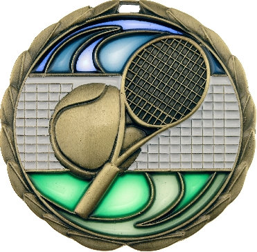 MS918G# Tennis Medal 70mm
