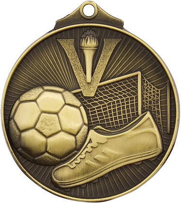 MD904G - Soccer Medal - 50mm_