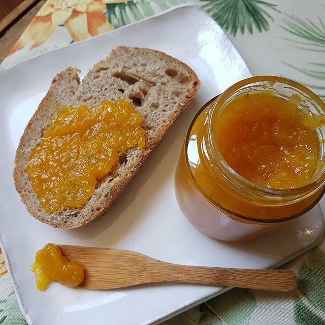 Geleia de laranja e gengibre