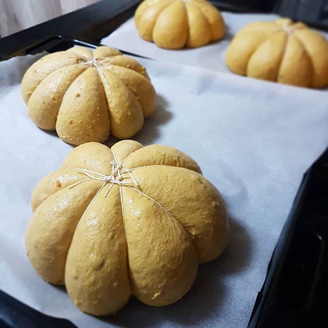 Pão de abóbora (fermentação natural)