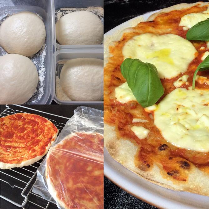 Pizza de fermentação natural