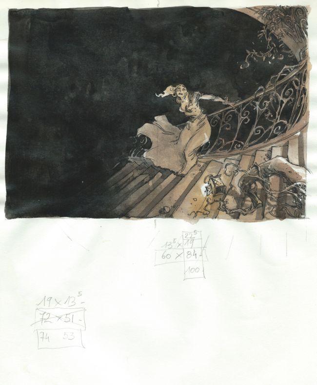 La belle et la bête IV (escalier)