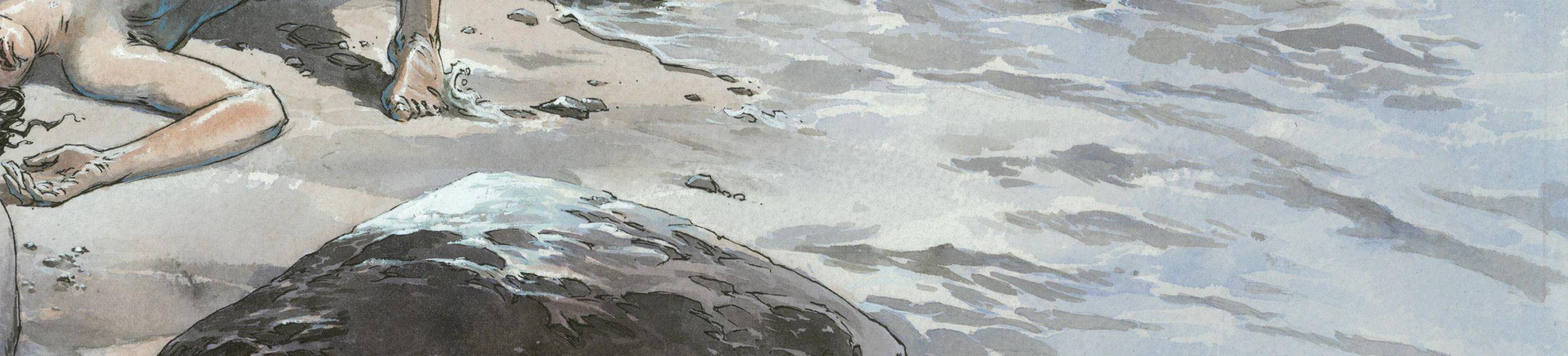 Sur la plage © Sorel