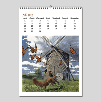 Calendrier 2022 Le moulin de Kercousquet