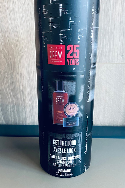 american crew gift blik 2 in 1 pomade & daily moisturizing shampoo