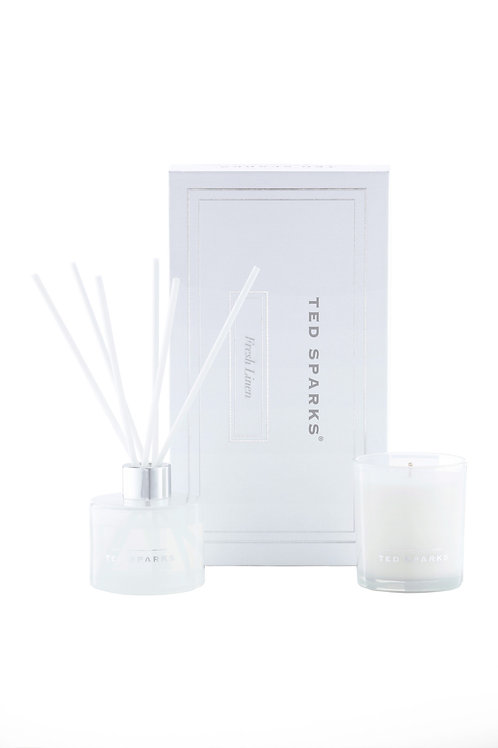 TED SPARKS - Candle & Diffuser Gift Set M - Fresh Linen