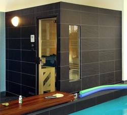 Sauna in Fichte Vollholz