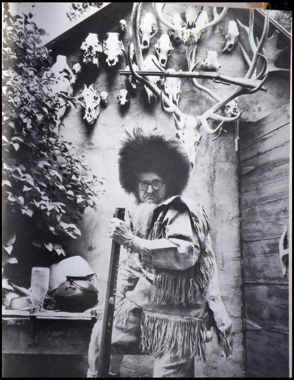 Buckskin Bill posing in vintage Tina Turner wig