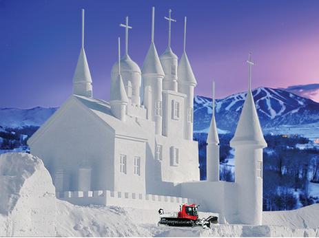 Drug-Addled Cat Driver Builds Giant Mormon Snow Temple