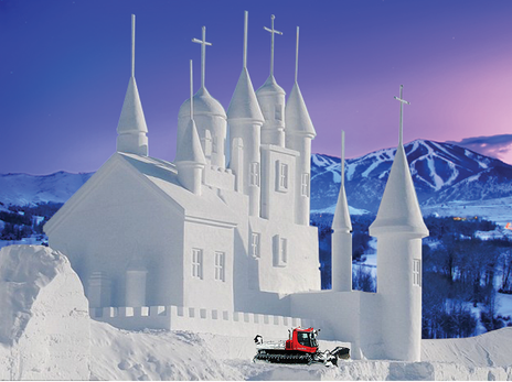 Drug-Addled Cat Driver Builds Giant Mormon Snow Temple