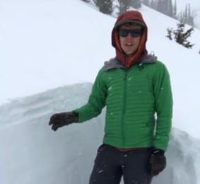 Avalanche Forecaster Visibly Erect After Fingering 4 Day Old Sun Crust Layer