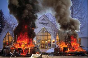 Boulder Mtn Tour Participants Riot, Set Fire to Elephants Perch After Kick Wax Supplies Run Out