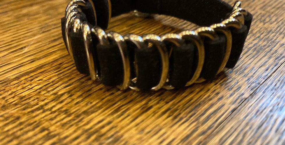 Black & Silver Buckle Bracelet