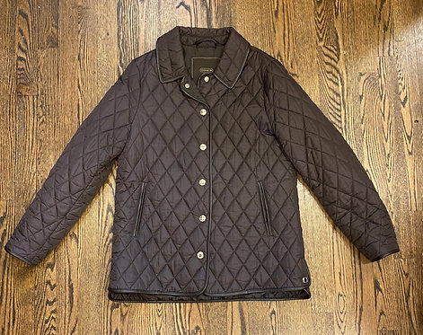 Coach Brown Quilted Jacket - Size M