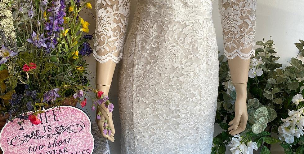 Thalia Sodi White Lace VNeck Dress - Size M